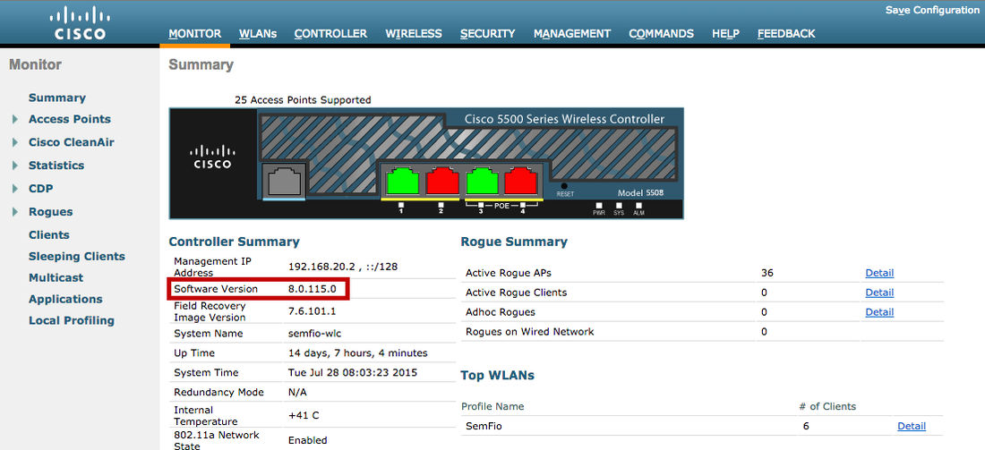 Upgrading Cisco Wireless Controller (WLC) & AP firmware via